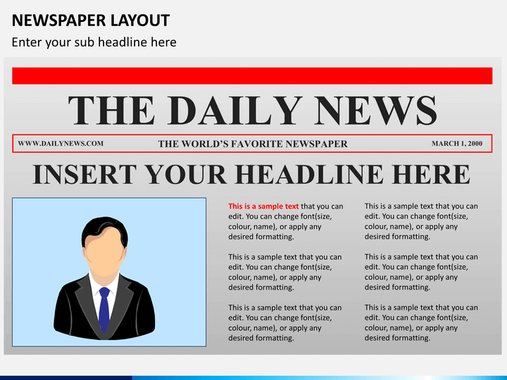 newspaper layout powerpoint sketchbubble
