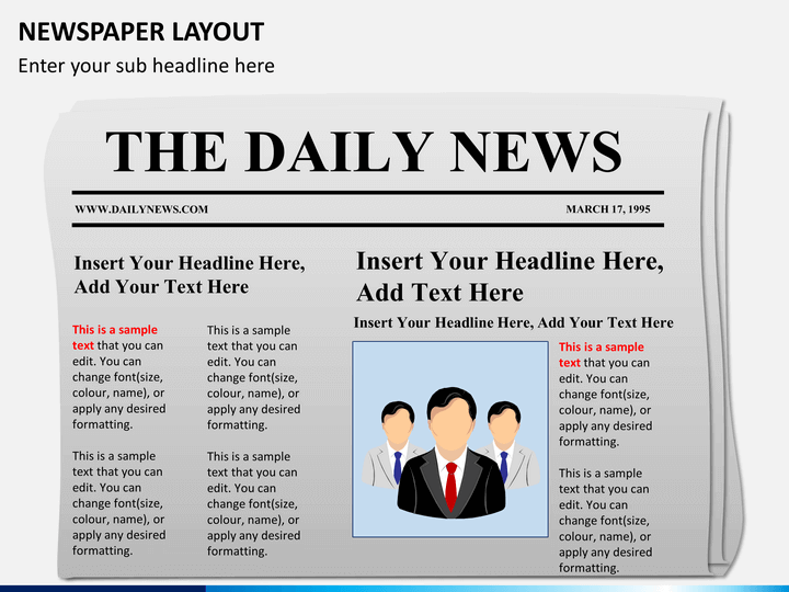 newspaper layout powerpoint