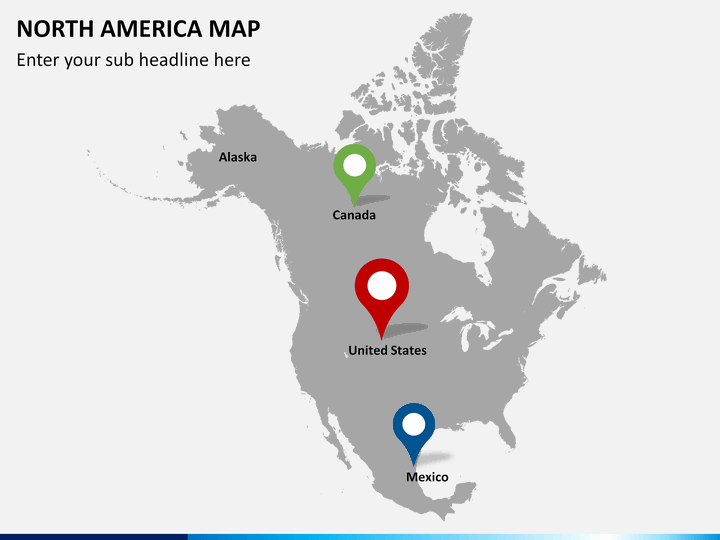 United States And Canada Map Powerpoint Usa Map Powerpoint - Map of united states and canada