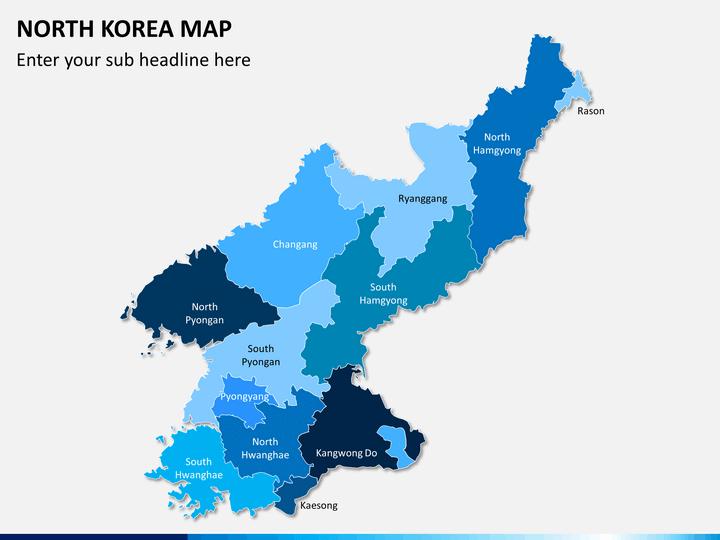 North korea map PPT slide 1