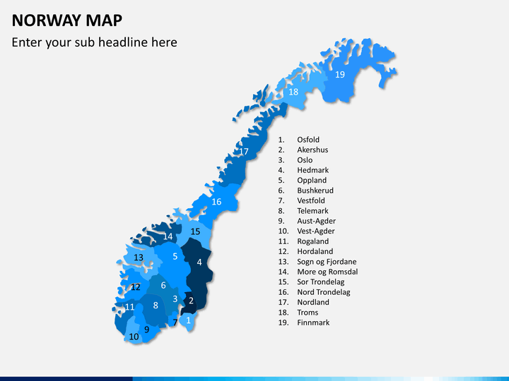Norway map PPT slide 1