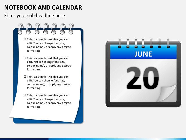 Notebook and Calendar PowerPoint – Sample Power Point Calendar