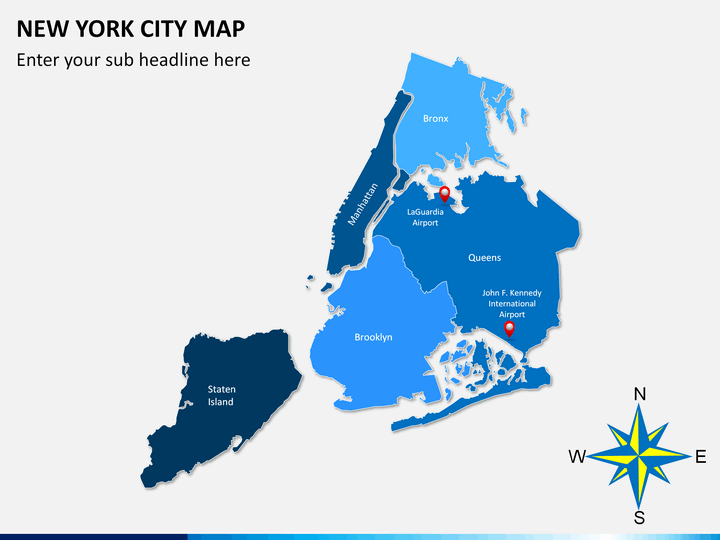 New York City map PPT slide 2
