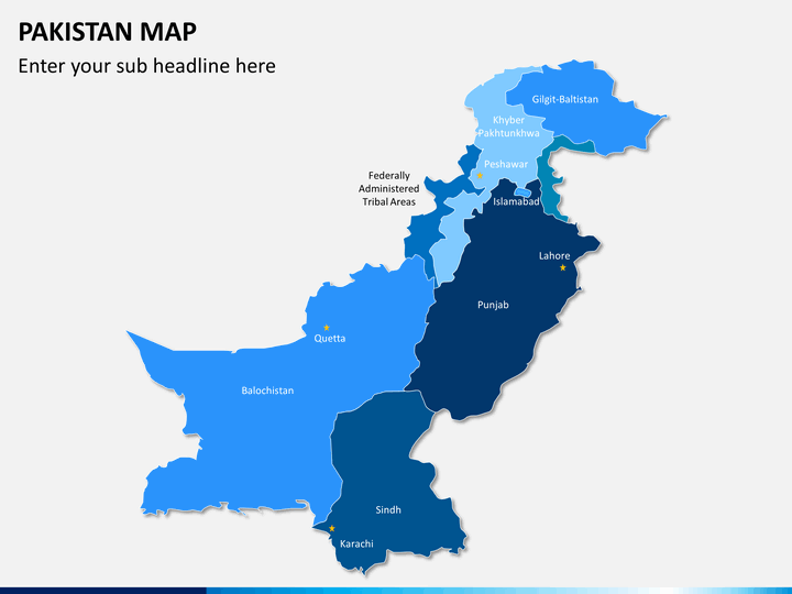 Pakistan map PPT slide 1