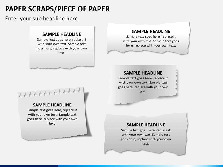 Paper scraps PPT slide 1