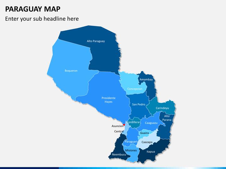Paraguay map PPT slide 1