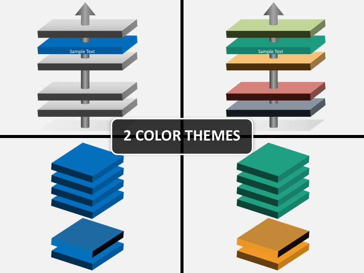 Parallel 3d layers PPT cover slide