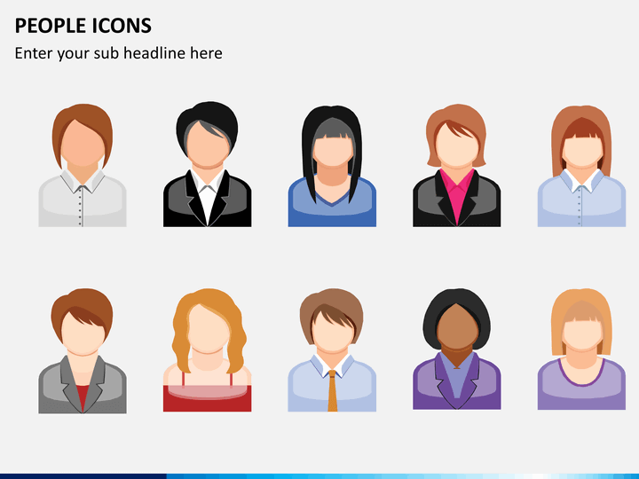 People icons PPT slide 1