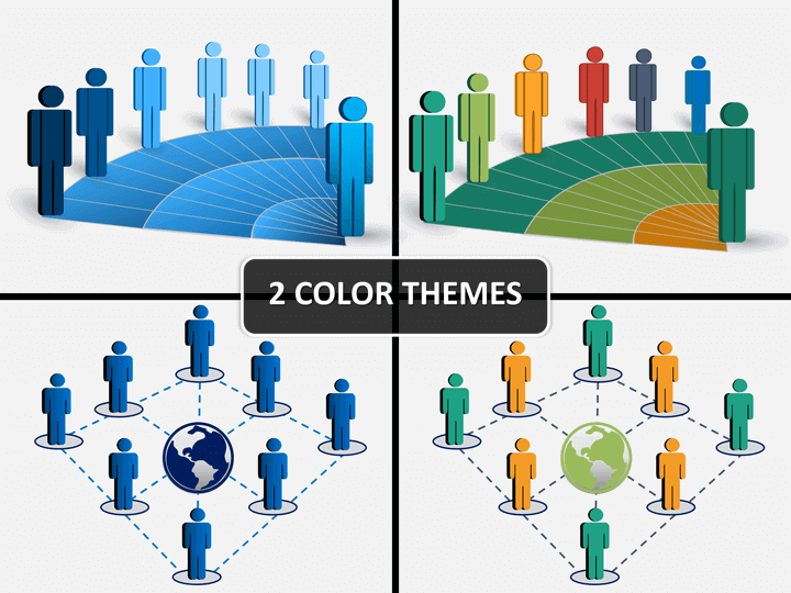 people network powerpoint template sketchbubble