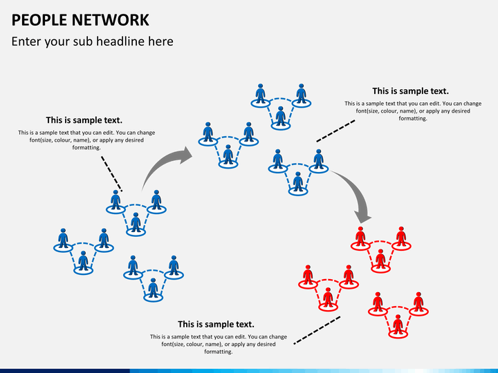 People Network PowerPoint Template | SketchBubble