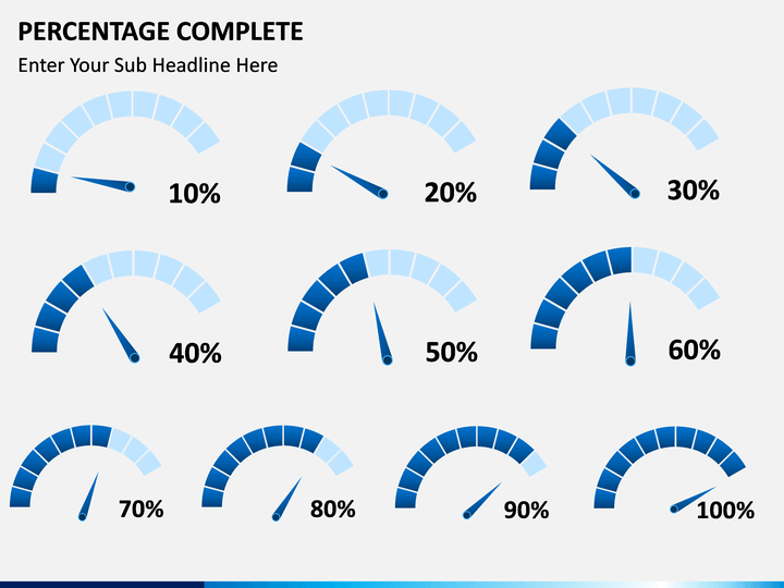 percentage complete powerpoint template