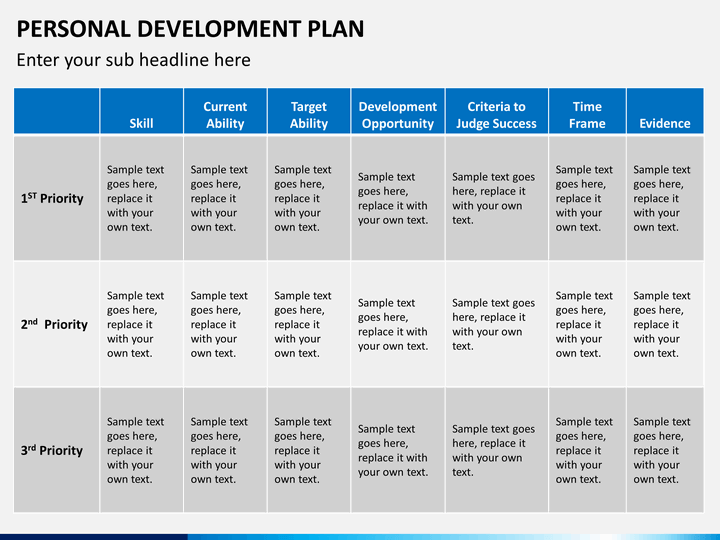 Personal development plan powerpoint template sketchbubble for Personal wellness plan template