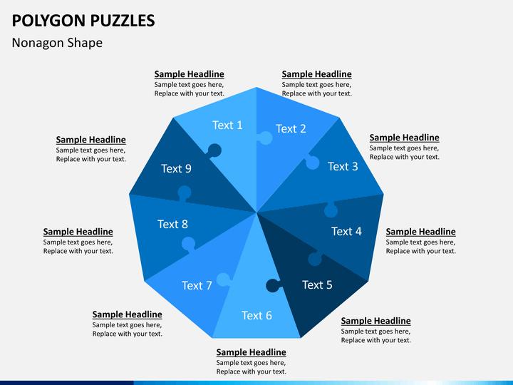 Polygon Puzzle PowerPoint Template   SketchBubble