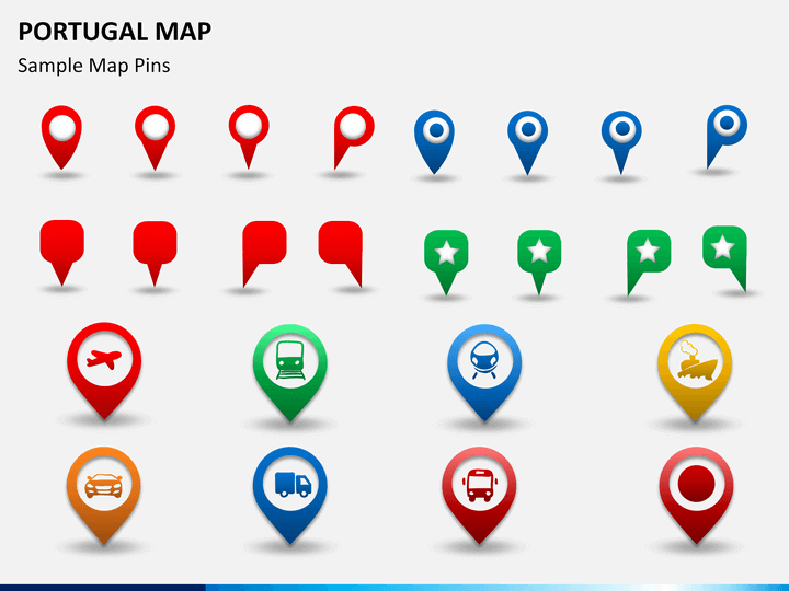 Portugal Map PowerPoint SketchBubble - Portugal map icon