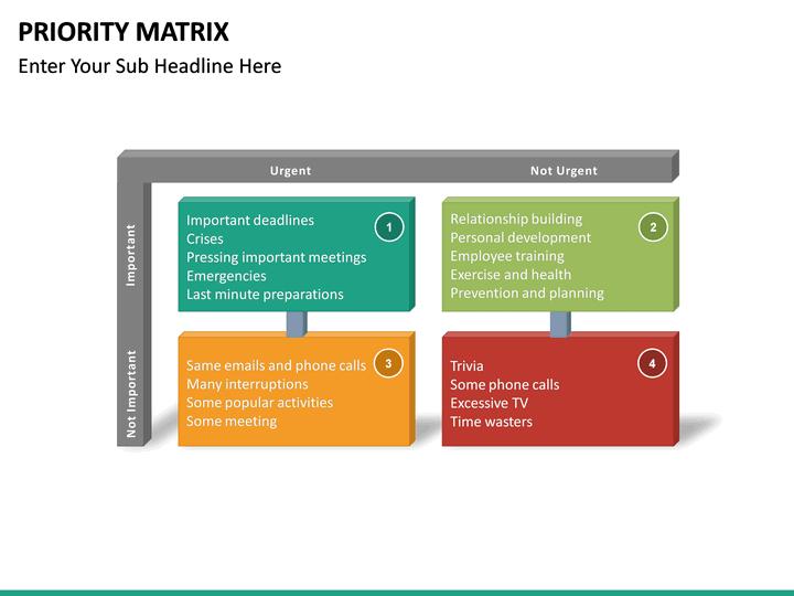 priority matrix powerpoint template