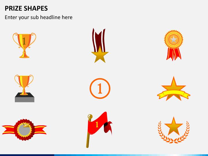 Prize shapes PPT slide 1