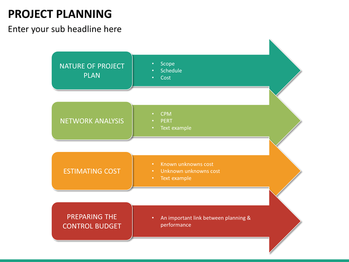 project planning powerpoint template sketchbubble