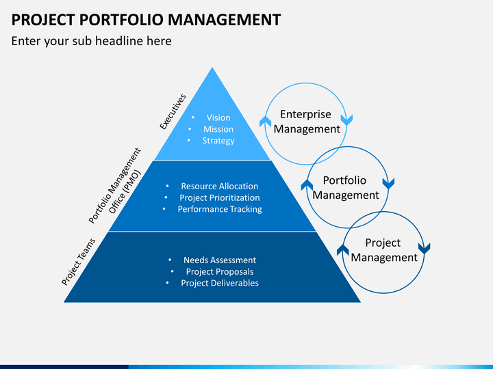 project and portfolio management The application of project portfolio management as it relates to information  technology professionals provides the benefit of providing executives with a.