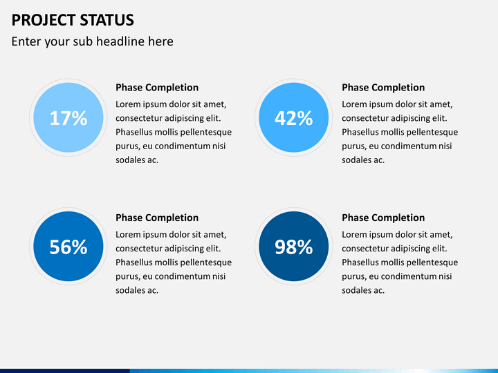 Project Status Powerpoint Template Sketchbubble