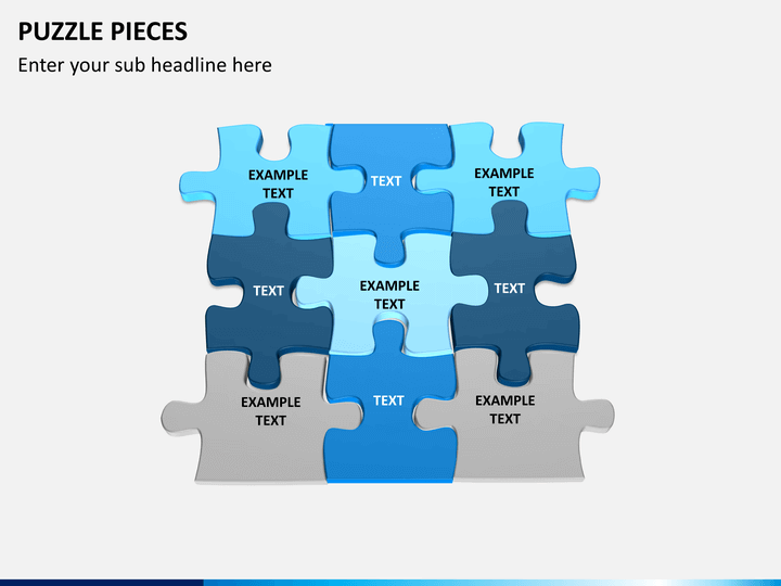 puzzle pieces powerpoint template sketchbubble. Black Bedroom Furniture Sets. Home Design Ideas