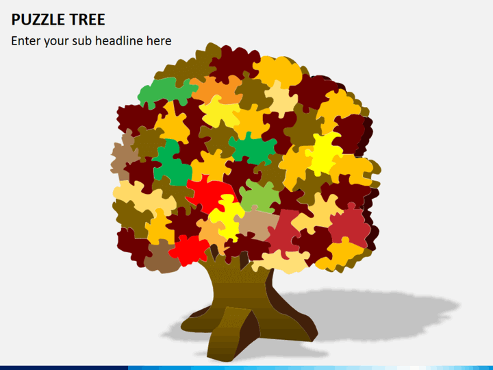 Puzzle tree PPT slide 1