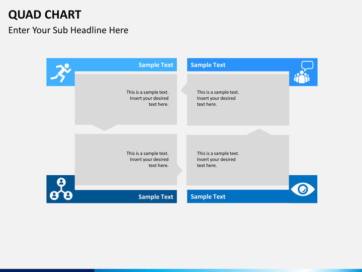 quad chart powerpoint template