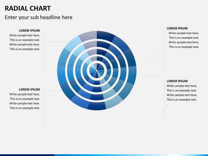 Radial charts PPT slide 1
