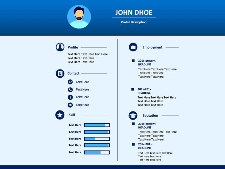 resume in ppt