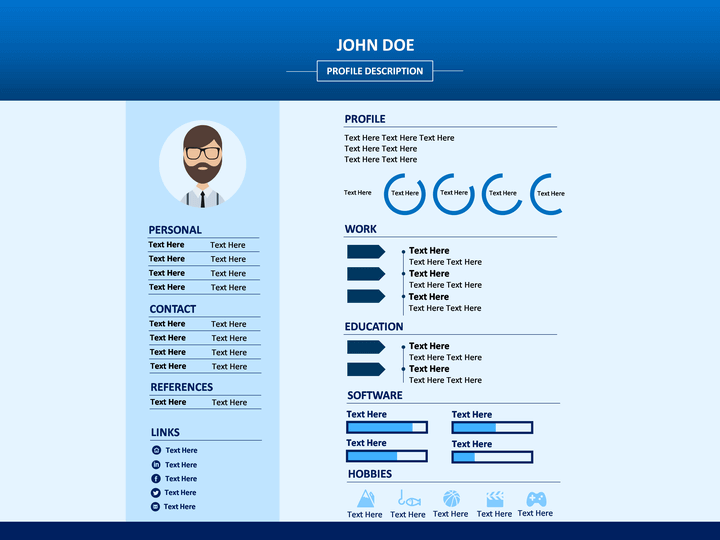 professional resume powerpoint template sketchbubble