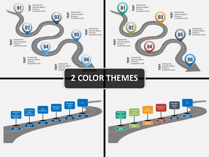 Roadmap bundle PPT cover slide