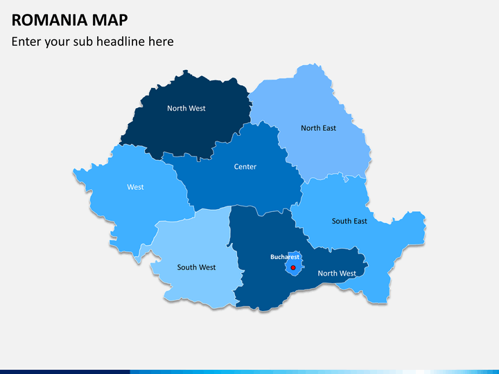 Romania map PPT slide 1