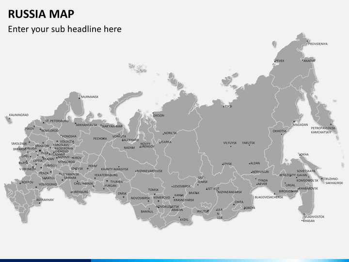 PowerPoint Russia Map SketchBubble