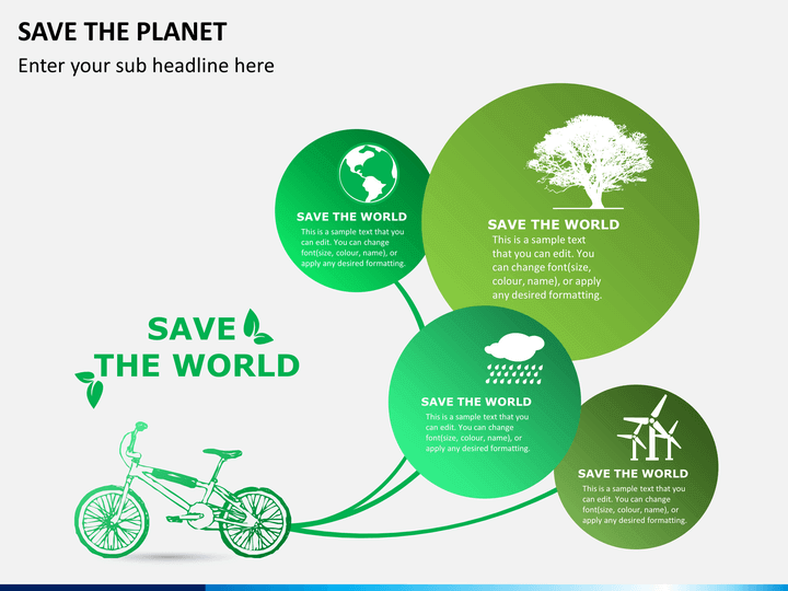 save the planet powerpoint template