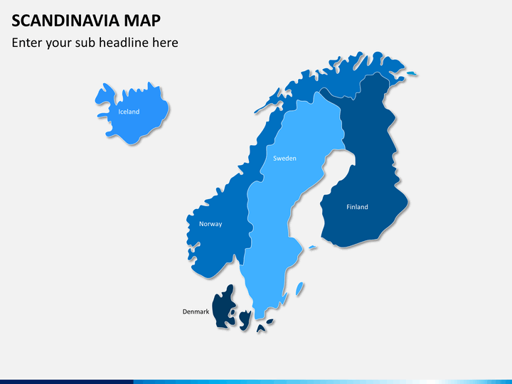 Scandinavia map PPT slide 1