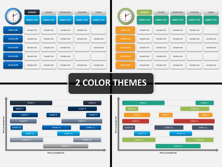 Schedule diagram PPT cover slide