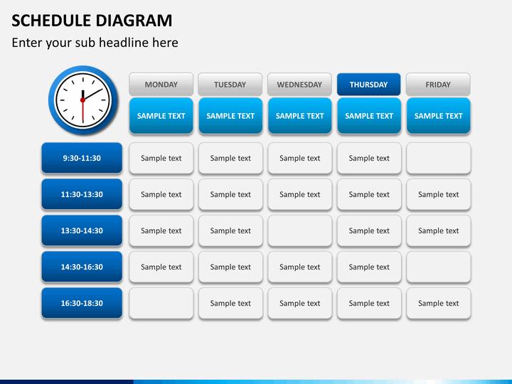 powerpoint schedule diagram