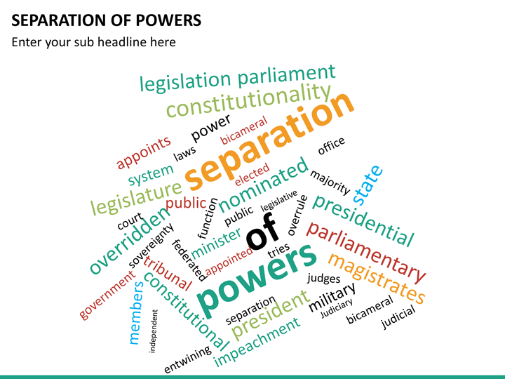 the separation of powers The doctrine of separation of powers envisages a tripartite system powers are delegated by the constitution to the three organs, and delineating the.
