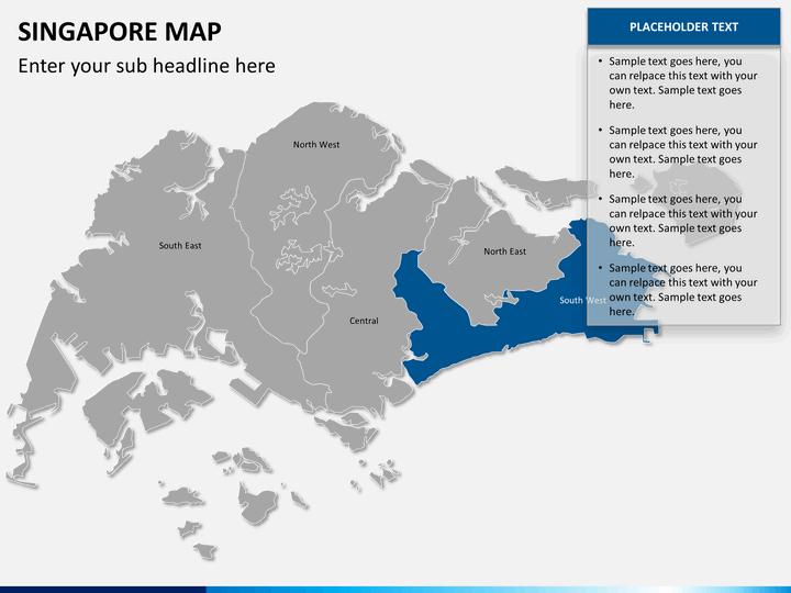 Singapore Map PowerPoint SketchBubble - Singapore map