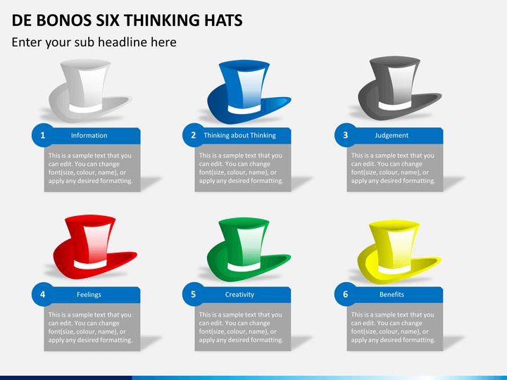 De bonos six thinking hats PPT slide 1