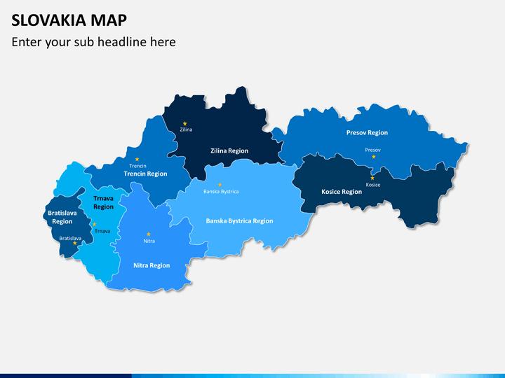 Slovakia map PPT slide 2