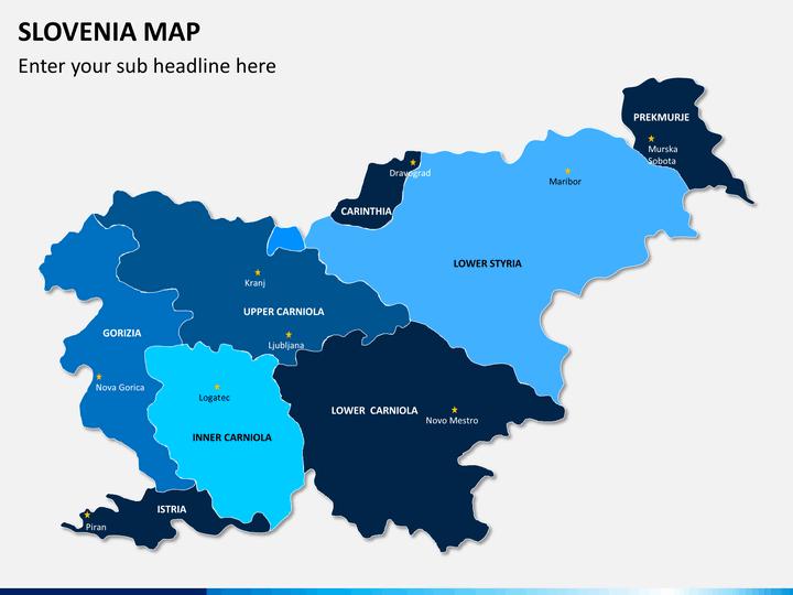 Slovenia map PPT slide 1
