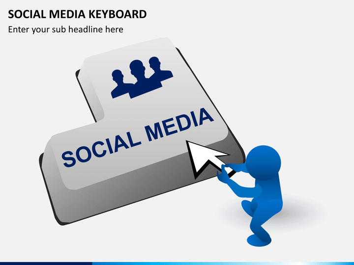 Social media keyboard PPT slide 1