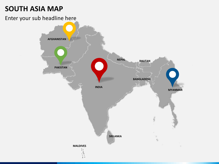 South Asia Map PowerPoint – The Map of South Asia