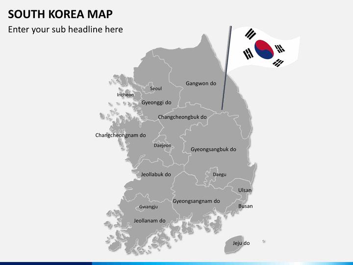South Korea Map PowerPoint SketchBubble