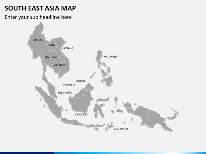 PowerPoint South East Asia Map – East Asia and Southeast Asia Map