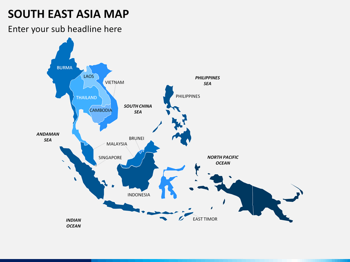 PowerPoint South East Asia Map | SketchBubble