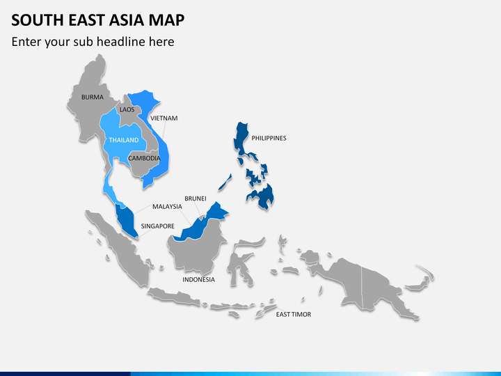Map Of Asia Template.South East Asia Map