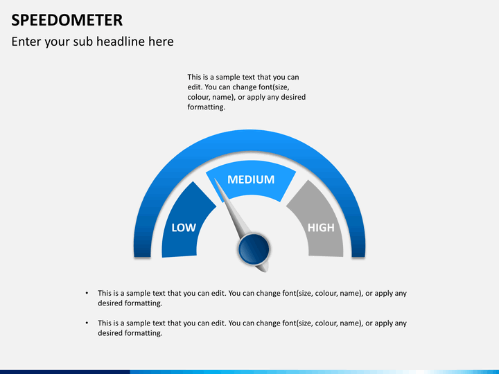 Speedometer PowerPoint Template : SketchBubble