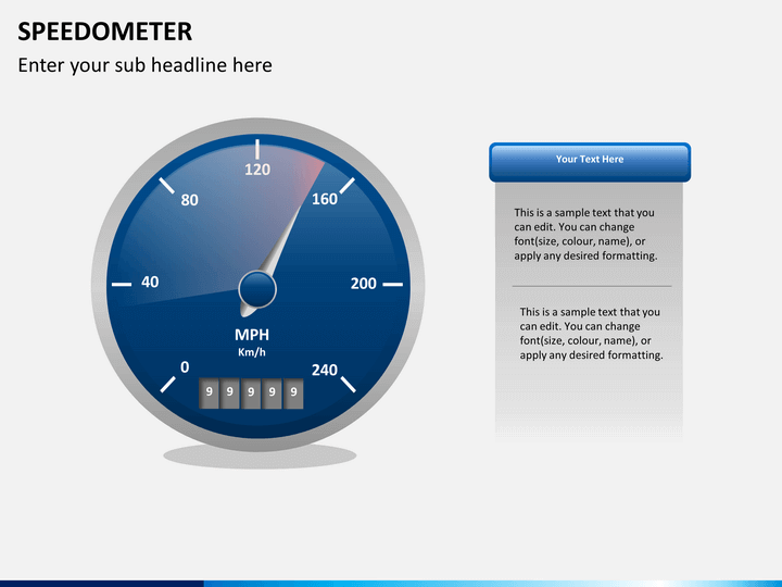 Speedometer Powerpoint Template Sketchbubble