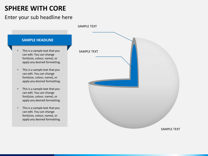 Sphere with core PPT slide 1